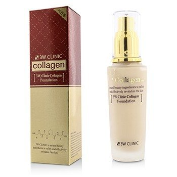 3W Clinic Collagen Foundation - # 21 (Transparent Beige)