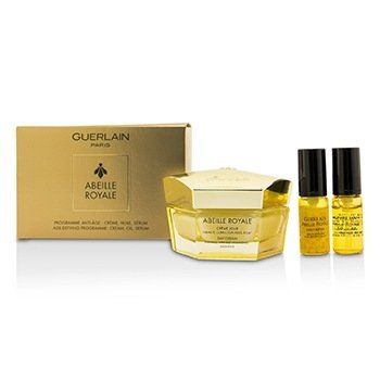 Guerlain Abeille Royale Day Cream Set: Day Cream  50ml + Daily Repair Serum 5ml + Abeille Royale Face Treatment Oil 5ml