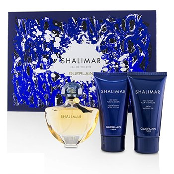 Guerlain Shalimar Coffret: Eau De Toilette Spray 50ml + Shower Gel 75ml + Body Lotion 75ml