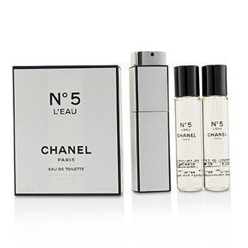 Chanel No.5 LEau Eau De Toilette Purse Spray And 2 Refills