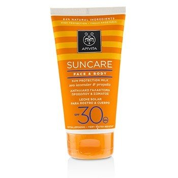 Apivita Suncare Face & Body Sun Protection Milk SPF 30 With Sea Lavender & Propolis