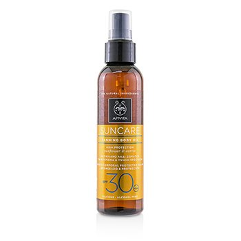 Apivita Suncare Tanning Body Oil SPF 30 With Sunflower & Carrot