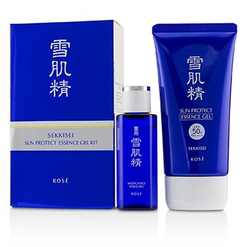 Kose Sekkisei Sun Protect Essence Gel Kit: Sekkisei Sun Protect Essence Gel SPF50+ PA++++ 81ml + Medicated Sekkisei 24ml