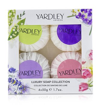 Yardley London Luxury Soap Collection: English Lavender + English Rose + Lily of Vally + April Violets