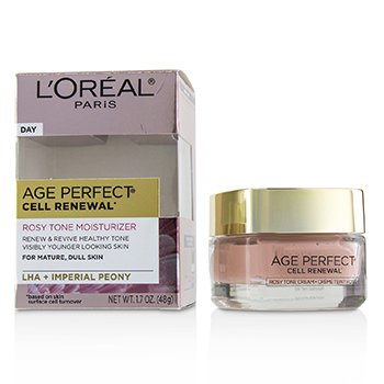 LOreal Age Perfect Cell Renewal Rosy Tone Moisturizer - For Mature, Dull Skin