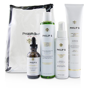 Philip B Four Step Hair & Scalp Treatment Set - # Paraben-Free Formula (All Hair Types) 08PF