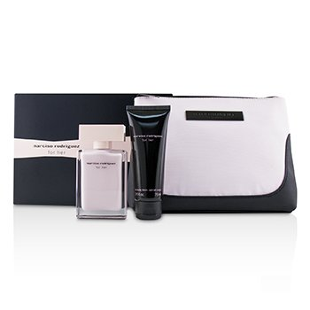 Narciso Rodriguez For Her Coffret: Eau De Parfum Spray 50ml + Her Body Lotion 75ml + Pouch