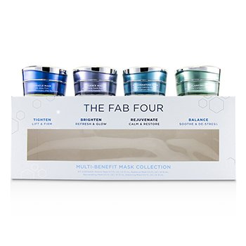 The Fab Four Multi-Benefit Mask Collection: Miracle Mask + Radiance Mask + Rejuvenating Mask + Balancing Mask