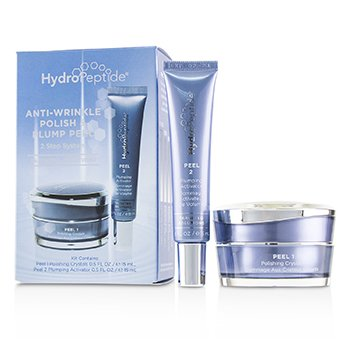 HydroPeptide Anti-Wrinkle Polish & Plump Peel:Anti-Wrinkle Polishing Crystals 15ml + Anti-Wrinkle Plumping Activator 15ml