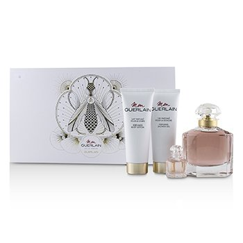 Guerlain Mon Guerlain Coffret: Eau De Parfum Spray 100ml +Perfumed Body Lotion 75ml+ Perfumed Shower Gel 75ml+Eau De Parfum 5ml