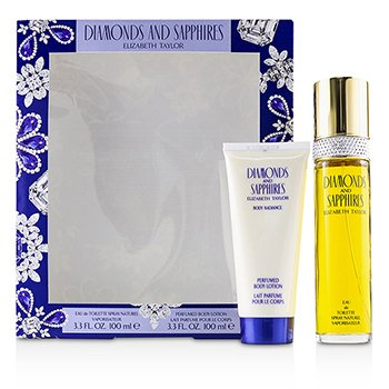 Elizabeth Taylor Diamonds & Sapphires Coffret: Eau De Toilette Spray 100ml + Perfumed Body Lotion 100ml