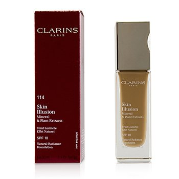 Clarins Skin Illusion Natural Radiance Foundation SPF 10 - # 114 Cappuccino (Box Slightly Damaged)