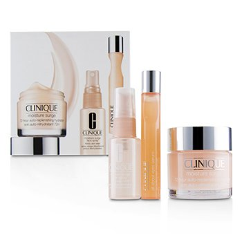 Clinique Moisture Surge Set: Moisture Surge 72-Hr 75ml+ All About Eyes Serum 15ml+ Moisture Surge Face Spray Thirsty Skin Relief 30ml