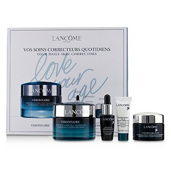 Lancôme Visionnaire Set: Advanced Multi-Correcting Cream+Nuit Beauty Sleep Perfector+Eye Balm+Genifique Advanced Concentrate