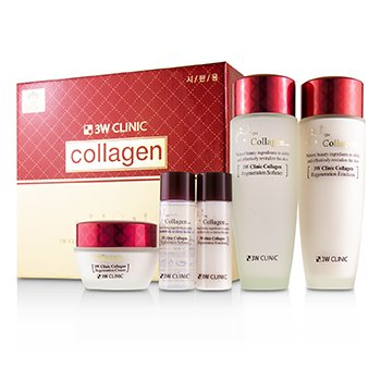 3W Clinic 3W Clinic Collagen Skin Care Set: Softener 150ml + Emulsion 150ml + Cream 60ml + Softener 30ml + Emulsion 30ml