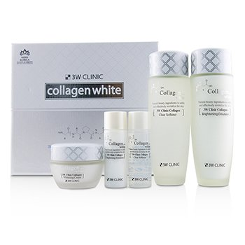 3W Clinic 3W Clinic Collagen White Skin Care Set: Softener 150ml + Emulsion 150ml + Cream 60ml + Softener 30ml + Emulsion 30ml