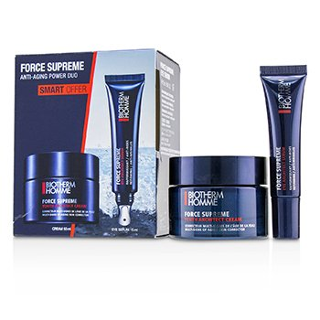 Biotherm Homme Force Supreme Anti-Aging Power Duo Set: Youth Architect Cream 50ml + Eye Architect Serum 15ml