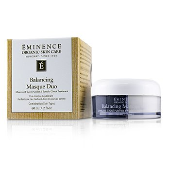 Eminence Balancing Masque Duo: Charcoal T-Zone Purifier & Pomelo Cheek Treatment - For Combination Skin Types