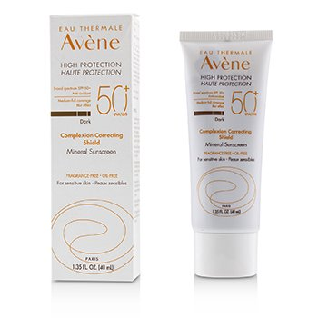 Avene Complexion Correcting Shield Mineral Sunscreen SPF 50 - #Dark (For Sensitive Skin)
