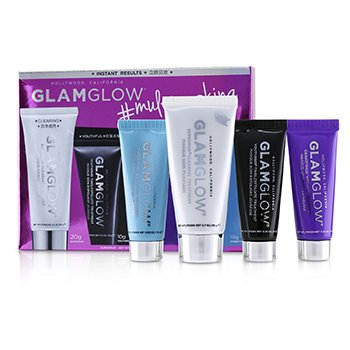 Glamglow Multimasking Set: SuperMud 20g + YouthMud 10g + GravityMud 10g + ThirstyMud 10g