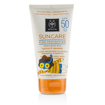 Suncare Kids Protection Face & Body Milk SPF 50 With Apricot & Calendula (Exp. Date: 12/2019)