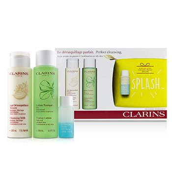 Perfect Cleansing Set (Combination or Oily Skin): Cleansing Milk 200ml+ Toning Lotion 200ml+ Eye Make-Up Remover 30ml+ Bag