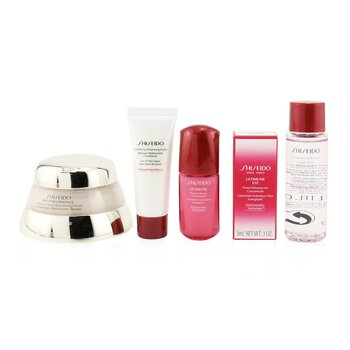 Shiseido Time Fighting Ritual Bio-Performance Advanced Super Revitalizing Cream Set (For All Skin Types): Super Revitalizing Cream 50ml + Cleansing Foam 15ml + Ultimune Concentrate 10ml + Ultimune Eye Concentrate 3ml