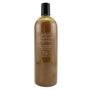 John Masters Organics 2-in-1 Shampoo & Conditioner For Dry Scalp with Zinc & Sage