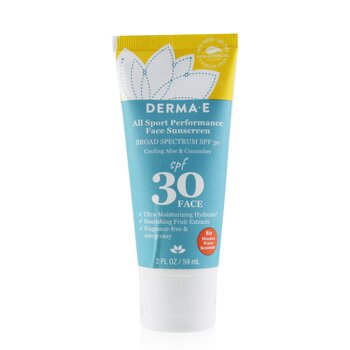 Derma E All Sport Performance Face Sunscreen SPF 30