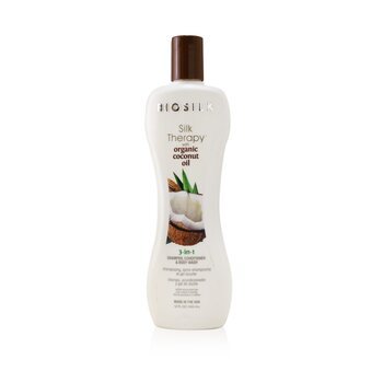 BioSilk Silk Therapy with Coconut Oil 3-In-1 Shampoo, Conditioner & Body Wash