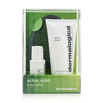 Active Moist Limited Edition Set: Active Moist 100ml + Dermal Clay Cleanser 30ml + Facial Cleansing Mitt