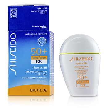 Shiseido Sports BB SPF 50+ Very Water-Resistant - # Medium 1 (Box Slightly Damaged)