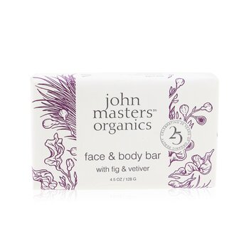 John Masters Organics Face & Body Bar With Fig & Vetiver